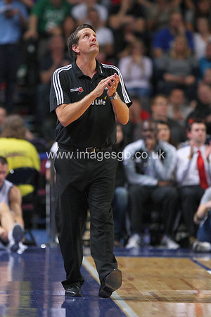 Chris Finch during GB v USA Basketball in Manchester – July 2012