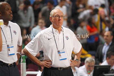 Jim Boeheim during GB v USA Basketball in Manchester – July 2012