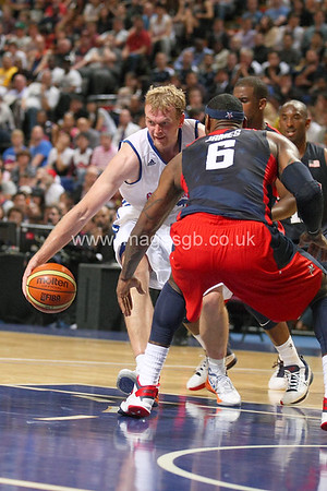 Dan Clark during GB v USA Basketball in Manchester – July 2012