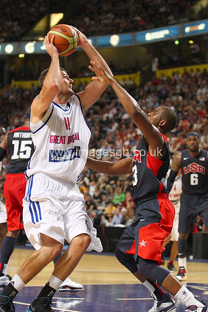 Joel Freeland during GB v USA Basketball in Manchester – July 2012