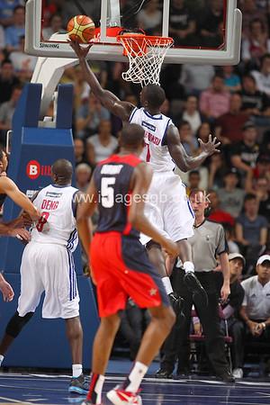 Pops Mensah Bonsu during GB v USA Basketball in Manchester – July 2012