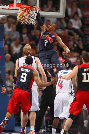 Westbrook, Russell during GB v USA Basketball in Manchester – July 2012