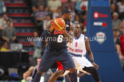James, LeBron during GB v USA Basketball in Manchester – July 2012