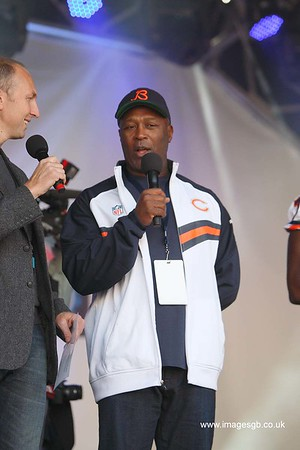 Lovie Smith the head coach of the Chicago Bears