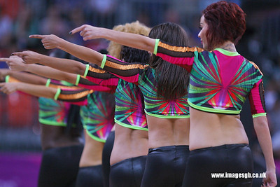 Dancers at The London International Basketball Invitational