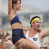 Dancers entertain the crown at Visa FIVB Beach Volleyball International
