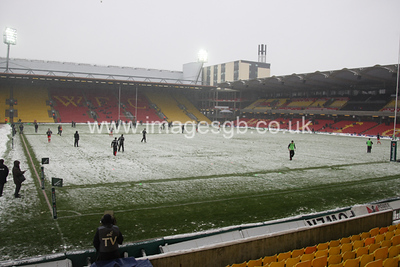 During Saracens 40 v 7 Heineken cup victory of Edinburgh at Vicarage Road, Watford.    This was Saracens last home game at Vicarage Road