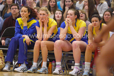 Team Bath players looking tense  during Surrey Storm 61-46 win over Team Bath in Surrey Sports Park on 23 Feb 2013  (imagesGB)