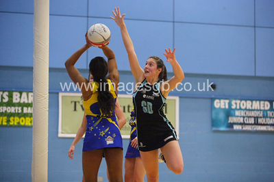Katy Holland  during Surrey Storm 61-46 win over Team Bath in Surrey Sports Park on 23 Feb 2013  (imagesGB)
