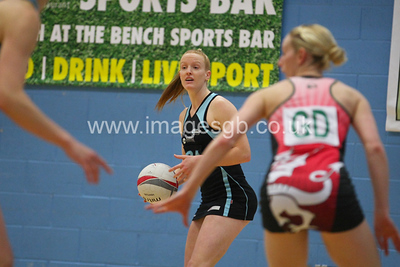 Ash Neal during  Surrey Storms 72 v 56 loss against Celtic Dragons at Surrey Sports Park on the 18 April 2013 (ImagesGB)