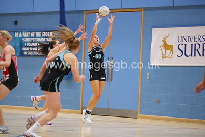 Katy Holland during  Surrey Storms 72 v 56 loss against Celtic Dragons at Surrey Sports Park on the 18 April 2013 (ImagesGB)