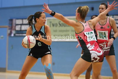Becky Trippick during  Surrey Storms 72 v 56 loss against Celtic Dragons at Surrey Sports Park on the 18 April 2013 (ImagesGB)