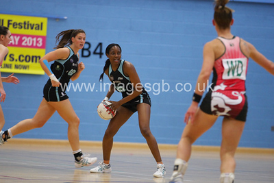 Natalie Seaton during  Surrey Storms 72 v 56 loss against Celtic Dragons at Surrey Sports Park on the 18 April 2013 (ImagesGB)