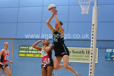 Rachel Dunn during  Surrey Storms 72 v 56 loss against Celtic Dragons at Surrey Sports Park on the 18 April 2013 (ImagesGB)