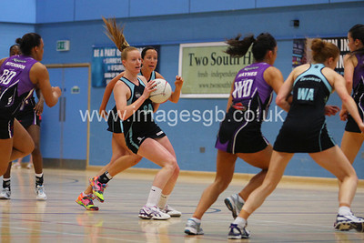 Ash Neal during  Surrey Storms 63 v 42 win against Hertfordshire Mavericks at Surrey Sports Park on the 29 April 2013 (ImagesGB)