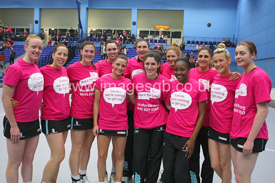 Surrey Storm prior to the game against Manchester Thunder (ImagesGB)