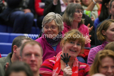 Fans during Surrey Storm 62-44 win over Manchester Thunder at Surrey Sports Park on the 11 March 2013.  (ImagesGB)