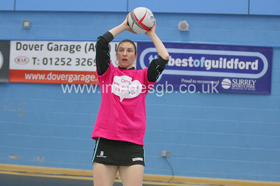 Rachel Dunn during Surrey Storm 62-44 win over Manchester Thunder at Surrey Sports Park on the 11 March 2013.  (ImagesGB)