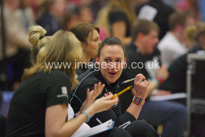 Coarching team during  Surrey Storms 65-34 win over Team Northumbria at Surrey Sports Park on the  15 March 2013 (ImagesGB)