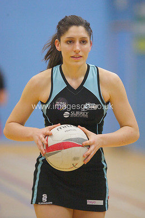 Amy Flanagan during  Surrey Storms 65-34 win over Team Northumbria at Surrey Sports Park on the  15 March 2013 (ImagesGB)