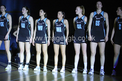 Surrey Storm line up before  Surrey Storms 65-34 win over Team Northumbria at Surrey Sports Park on the  15 March 2013 (ImagesGB)