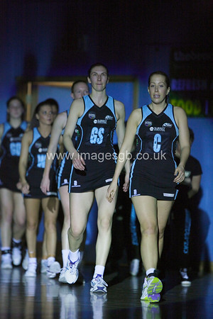 Surrey Storm enter the arean prior Surrey Storms 65-34 win over Team Northumbria at Surrey Sports Park on the  15 March 2013 (ImagesGB)