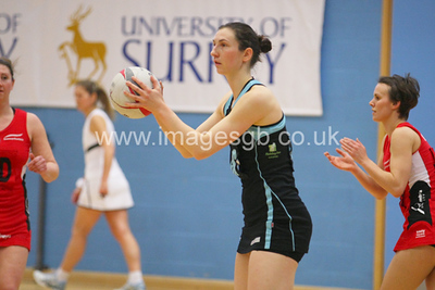 Rachel Dunn during  Surrey Storms 65-34 win over Team Northumbria at Surrey Sports Park on the  15 March 2013 (ImagesGB)