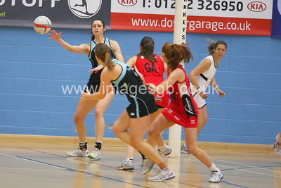 Hannah Reid during  Surrey Storms 65-34 win over Team Northumbria at Surrey Sports Park on the  15 March 2013 (ImagesGB)