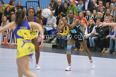 Natalie Seaton during Surrey Storms 43 v 63 loss against Team Bath at Surrey Sports Park on the 13 May 2013 (ImagesGB)