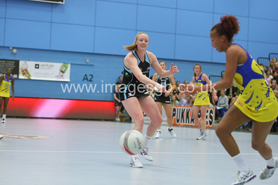 Ash Neal during Surrey Storms 43 v 63 loss against Team Bath at Surrey Sports Park on the 13 May 2013 (ImagesGB)