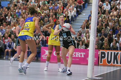 Rachel Dunn during Surrey Storms 43 v 63 loss against Team Bath at Surrey Sports Park on the 13 May 2013 (ImagesGB)