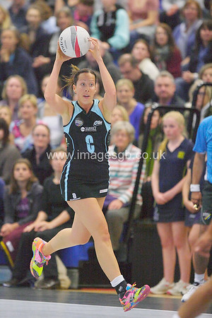 Becky Trippick during Surrey Storms 43 v 63 loss against Team Bath at Surrey Sports Park on the 13 May 2013 (ImagesGB)