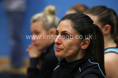 Stef Bello during Surrey Storms 43 v 63 loss against Team Bath at Surrey Sports Park on the 13 May 2013 (ImagesGB)