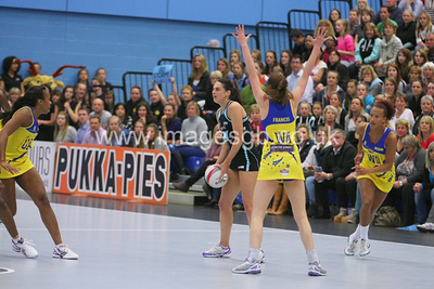 Kathryn Ainsworth during Surrey Storms 43 v 63 loss against Team Bath at Surrey Sports Park on the 13 May 2013 (ImagesGB)