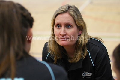 Mel Mansfield during Surrey Storm 57 – 48 win over the Hertfordshire Mavericks at Surrey Sports park on the 9th Feb 2013