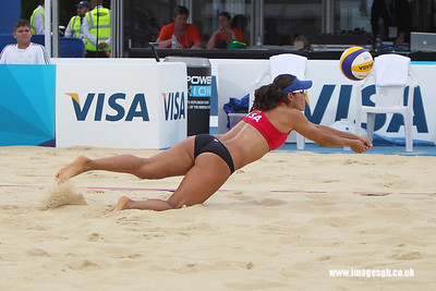 London - 13 Aug 2011 – Mayra Garcia (Mexico) during game against Kessy/Ross (USA)