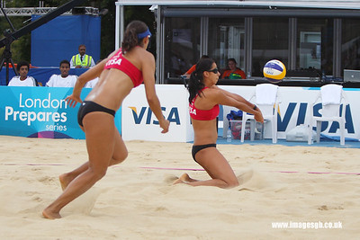 London - 13 Aug 2011 – Candelas Bibiana  (Mexico) during game against Kessy/Ross (USA)