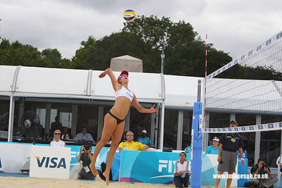 London - 13 Aug 2011 – April Ross of the USA during game against Candalas/Garcia (Mexico)