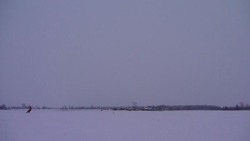 (Video) 2011-Jan: Snowkiting on Jan 22