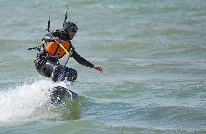 2010-Oct: Kiteboarding on Lake Ontario