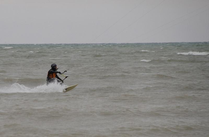 2011-Apr: Kitesurfing on Ontario