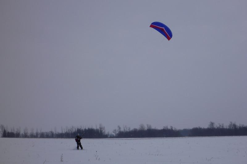 2011-Jan: Snowkiting on Jan 15