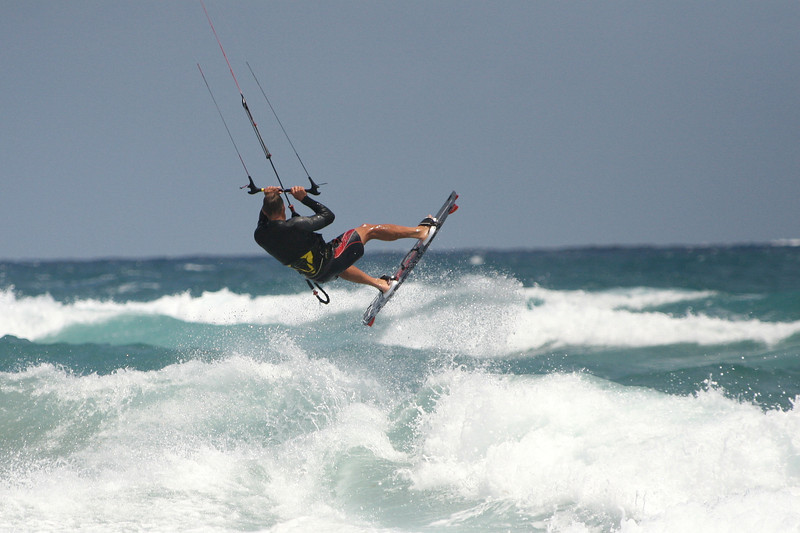 2012-Apr: Kiteboarding in Lake Worth, Florida