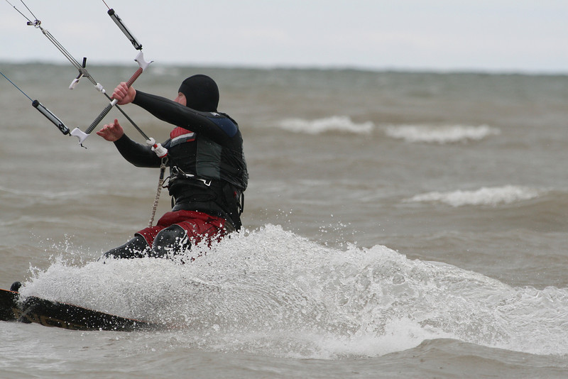 2012-Apr: Kiteboarding on Lake Ontario