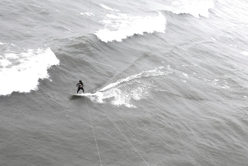 2012-Aug: Kiteboarding on Lake Erie