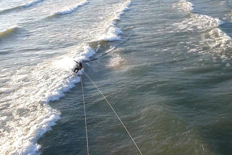 2012-Oct: Kiteboarding Lake Erie