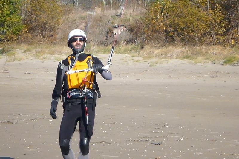2012-Oct: Kiting in Lake Erie