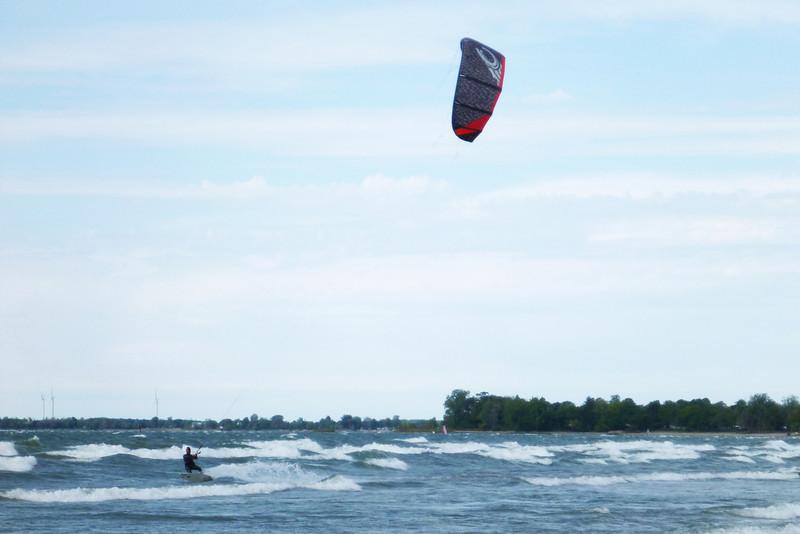 2012-Sept: Kiteboarding Lake Erie