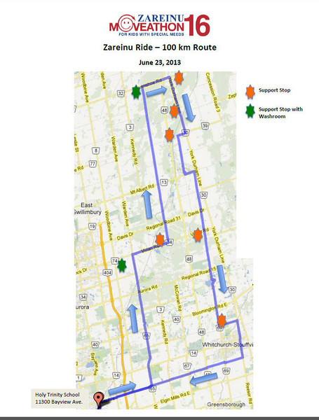2013-June: 100km Zareiu fundraiser bike ride