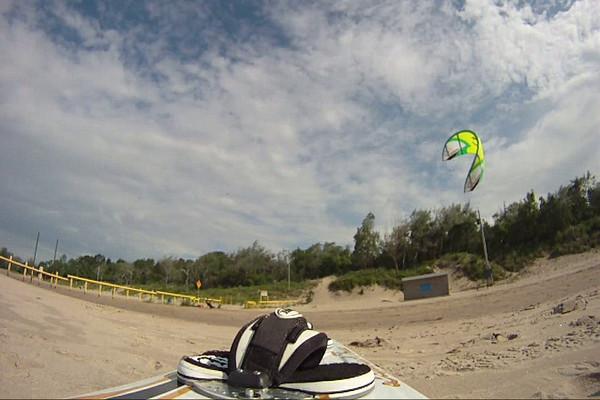 (Video) 2010-June 19: Kiteboarding on Erie